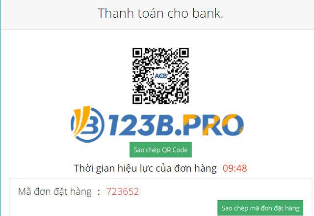 Xác nhận và hoàn tất giao dịch thông qua mã QRcode