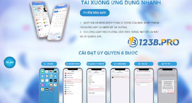 Những lưu ý trong cách tải app 123B